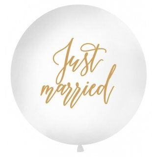 Giant Ballon Just Married gold 1m